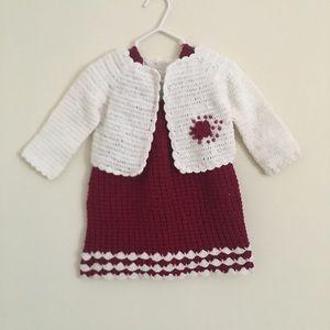 Other - Baby girl crochet dress set